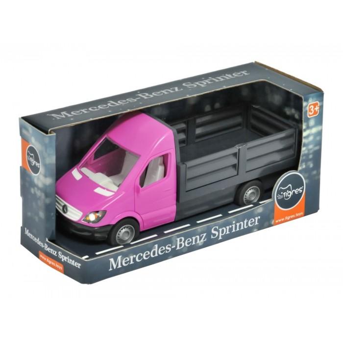 Автомобиль «Mercedes-Benz Sprinter» бортовой (розовый)