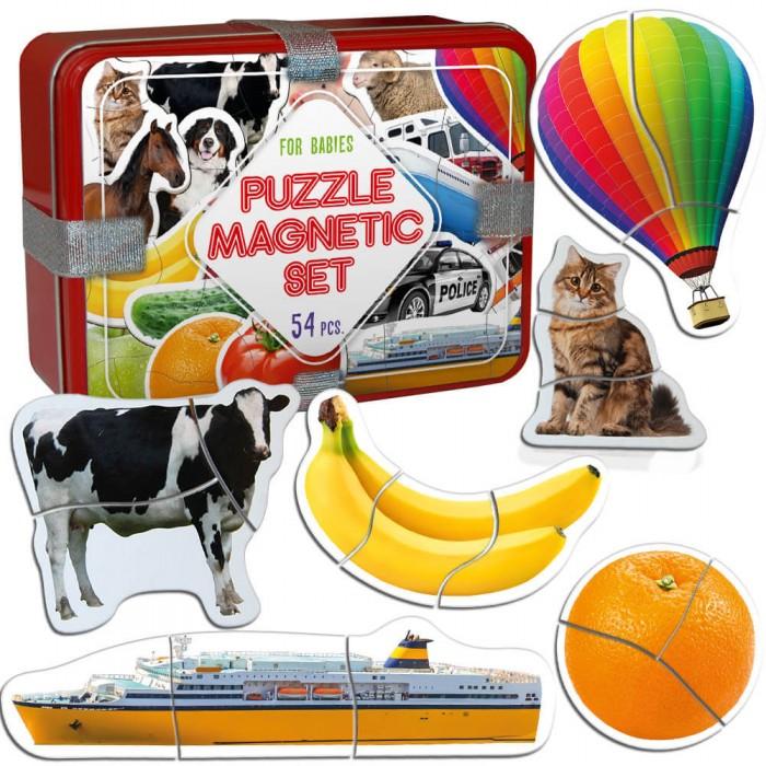 Набор-подарок магнитных Baby puzzle 54 магнитов Magdum