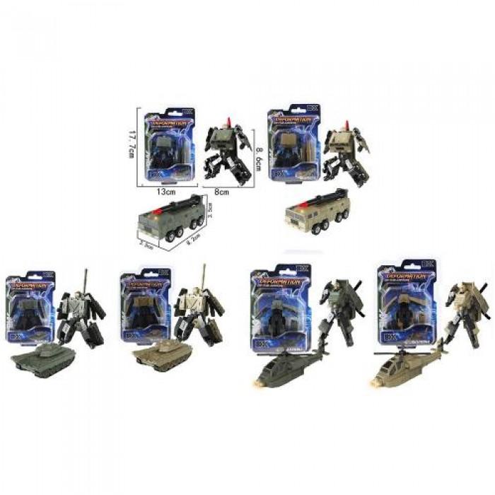 Трансформер 8см, робот+военная техника
