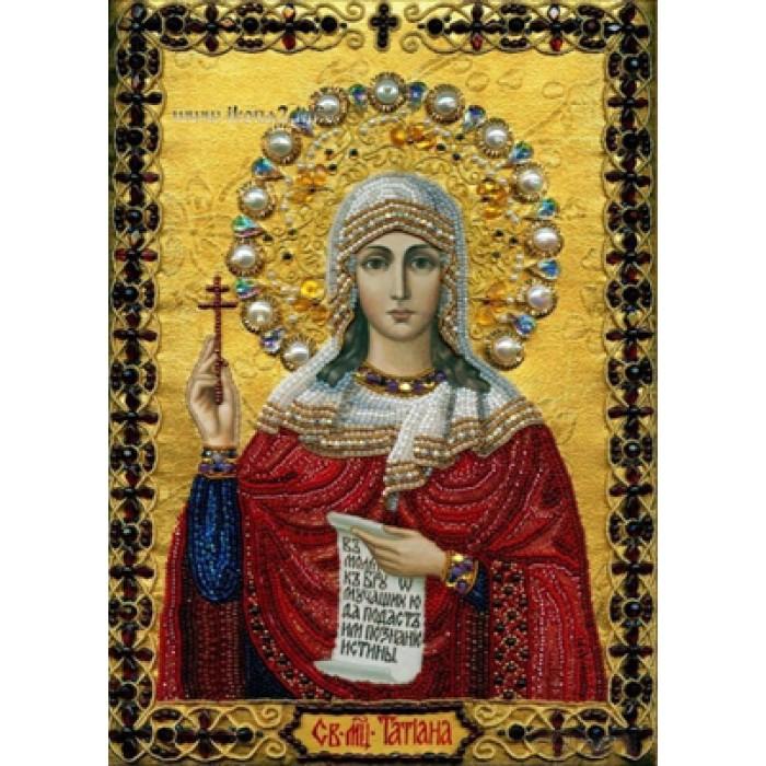 Алмазная мозаика «Св. Татьяна», 30*40см, с рамкой