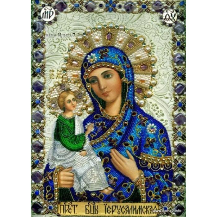 Алмазна мозаїка «Богородиця Єрусалимська», 30 * 40см, з рам.