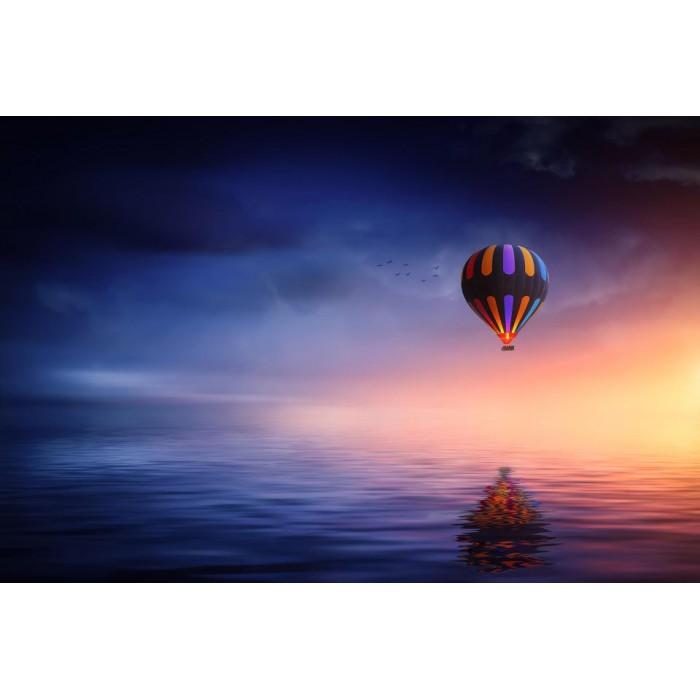 Алмазная мозаика «Полет на воздушном шаре», 30*40см, без рам