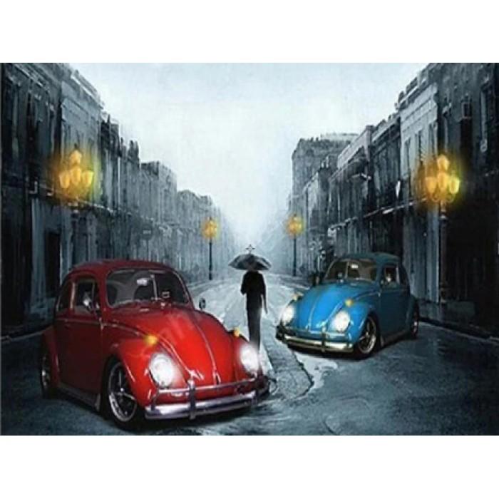 Алмазная мозаика «Volkswagen Beetle», 30*40см, без рамки