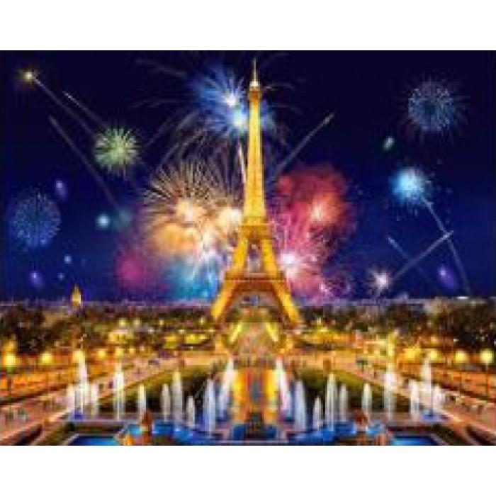 Алмазна мозаїка «Вогні Парижа», 30 * 40см, без рамки