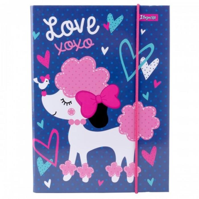 Папка для тетрадей В5, картонная «Love XOXO»