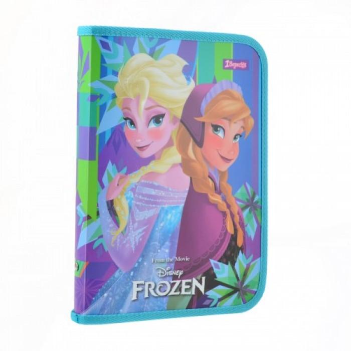 Папка для тетрадей В5 «Frozen», пластиковая, на молнии
