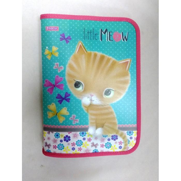 Папка для тетрадей В5 «Little meow», пластиковая, на молнии