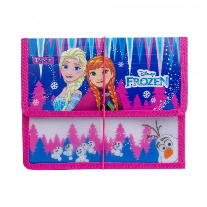 Папка для тетрадей В5 «Frozen» пластиковая на резинке