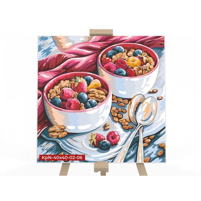 Картина по номерам  №6 «Десерт» 40*40см, серия 2