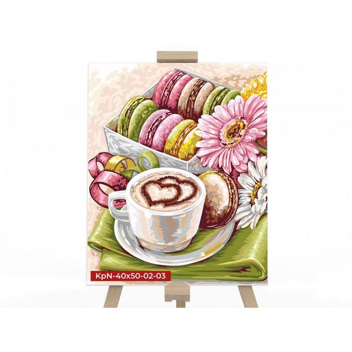 Картина по номерам  №3 «Утренний кофе» 40*50см, серия 2
