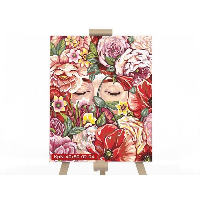 Картина по номерам  №4 «Аромат цветов» 40*50см, серия 2