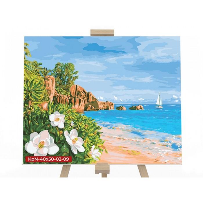 Картина по номерам  №9 «Морской пейзаж» 40*50см, серия 2