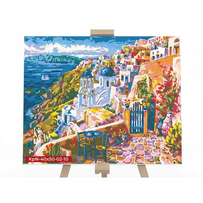 Картина по номерам  №10 «Санторини» 40*50см, серия 2